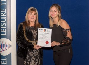 P.E. Co-ordinator, Miss Howes won award for Unsung Sporting Hero of the Year.