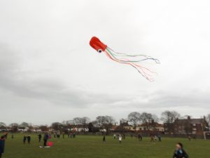 Year 5 kite flying project launch.