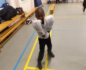 Future boxing champion?