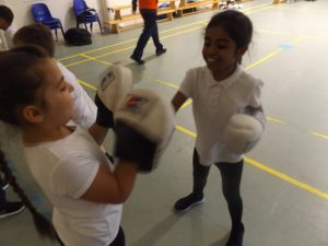 Year 3 boxing lessons